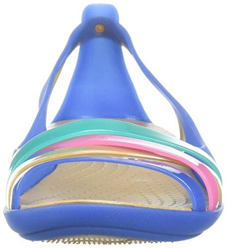 gold Flat Blue Donna Aperta W Crocs 2 Jean Ballerine Punta Huarache Isabella qwPU74S