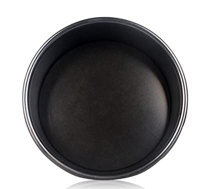 Molde para hornear gruesa 11 pulgadas falso fondo pastel Pan revestido antiadherente manejo para hacer torta