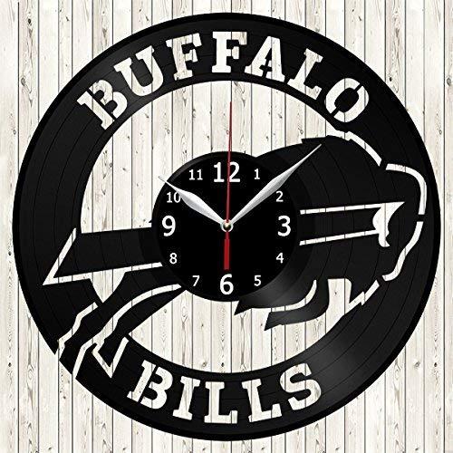 Amazon.com: Buffalo Bills Vinyl Record Wall Clock Decor ...