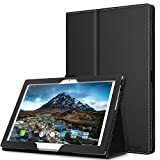 Lenovo Tab 4 / Tab 4 Plus 10' Case - MoKo Ultra Compact Premium Slim Folding Stand Cover Case with Auto Wake & Sleep for Lenovo Tab 4 / Tab 4 Plus 10.1 Inch HD Tablet 2017 Release, Black