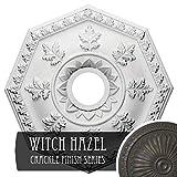 Ekena Millwork CM18NTWHC Nottingham Ceiling Medallion, Witch Hazel Crackle