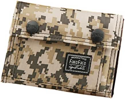 Heavy-Duty Casual Canvas Trifold Digital Camo Commando Wallet Card Holder Organizer