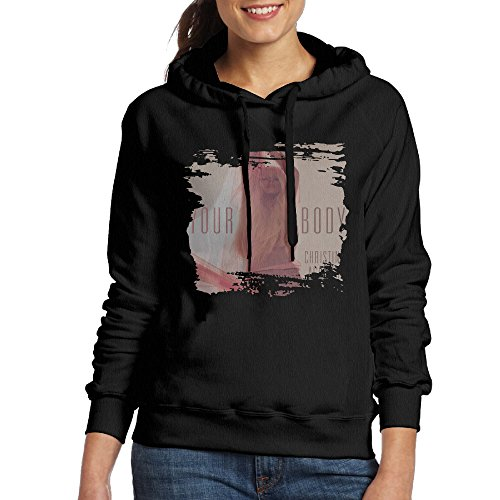 FUOCGH Women's Pullover Christina Aguilera Hoodie Sweatshirts Black - Cee With Lo Cat Green