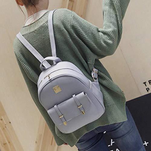 3pcs à mignon sacs à PU sac cuir dos Set à de adolescentes les d'école sac voyage dos Mode dos femmes en sac pour Fx7pqzz