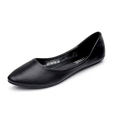 Aisun Women's Comfy Simple Low Cut Flat Loafers