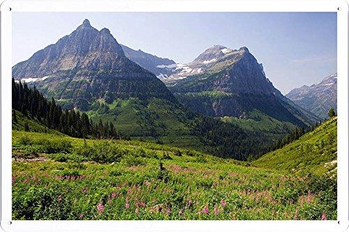 Planet Scene Poster - Mountain Pasture Tin Sign