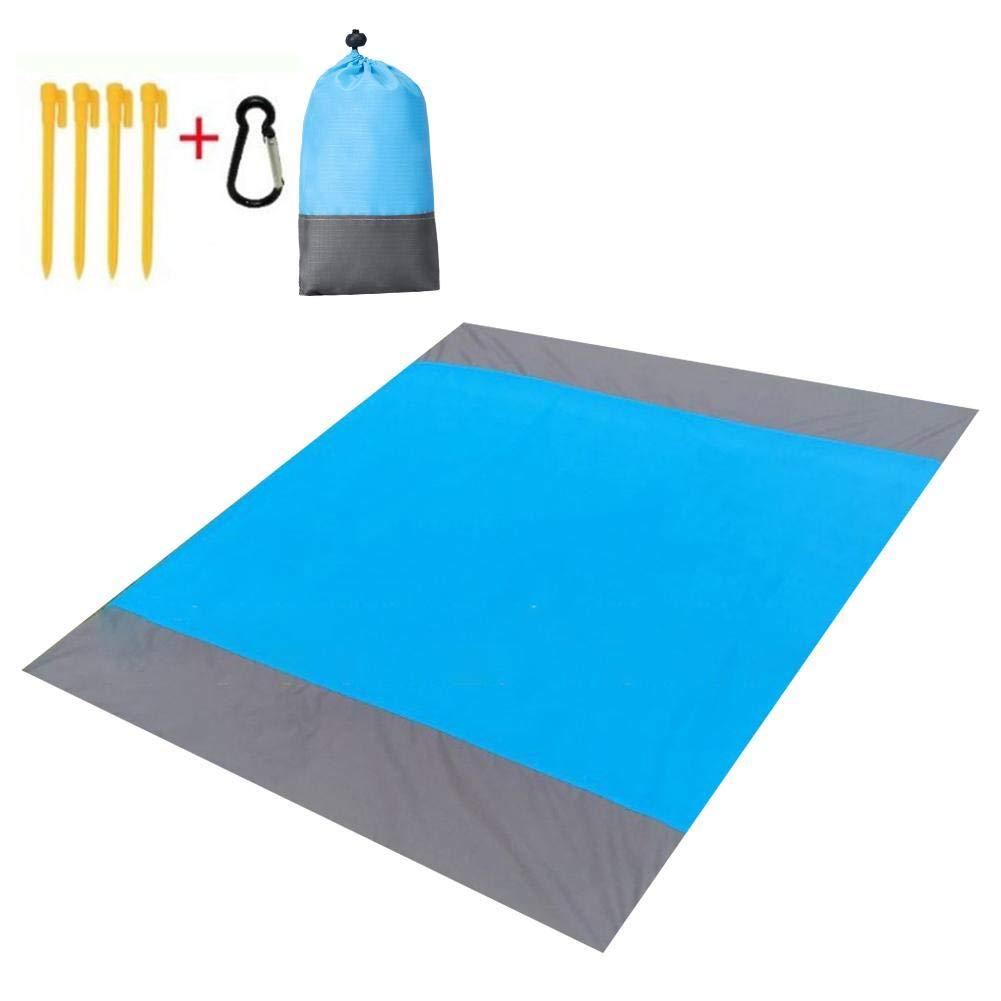 Costura Triple Manta de Playa Impermeable de Secado r/ápido Estera de Picnic Accesorios para Acampar Kitabetty Manta de Picnic al Aire Libre 210 /× 200 CM