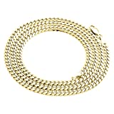 10K Yellow Gold 4.0mm Miami Cuban Link Chain Necklace Lobster Clasp, 24 Inches