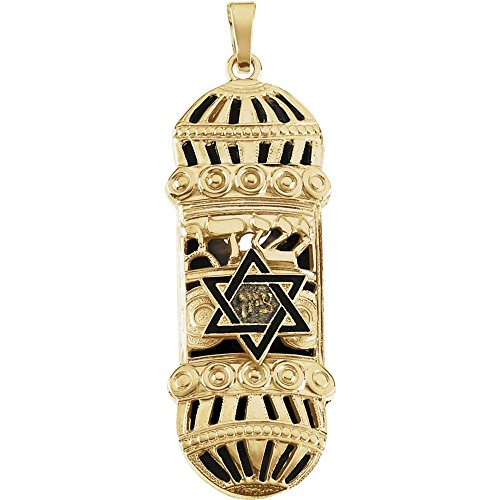 ezuzah Pendant with Blue & White Enamel ()