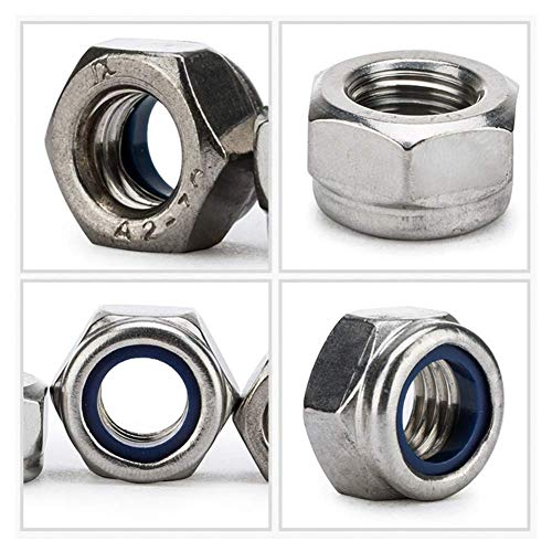 Fullerkreg 10-24 Nylon Insert Hex Lock Nuts, Stainless Steel A2-70/304/18-8, Plain Finish, Quantity 100