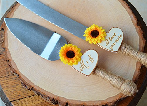 cake cutter for wedding sunflower wedding cake knife personalized wedding cake 2197