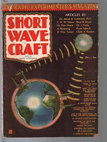Short Wave Craft #4 12/1930-Hugo Gernsback-early radio info-FR