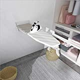 uyoyous Wall-Mounted Ironing Board with Heat