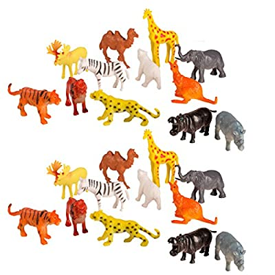 75 Piece Party Pack Mini Wild Jungle Animals - Plastic Mini Educational Jungle Animal Toys - Fun Gift Party: Toys & Games