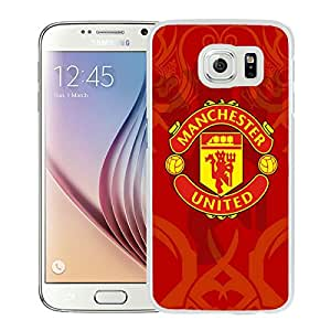 Fashionable And Unique Designed Cover Case With Manchester United 6 White For Samsung Galaxy S6 Phone Case