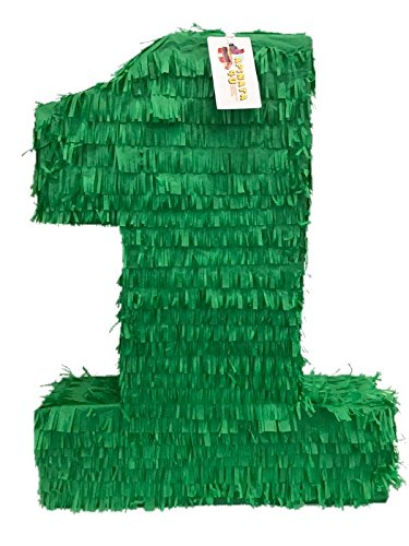 APINATA4U Large Solid Dark Green Number One Pinata 23