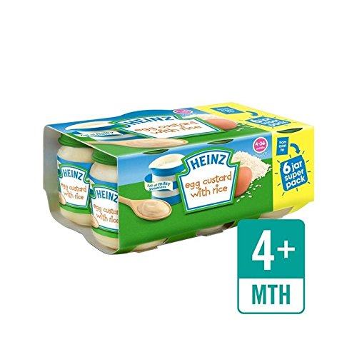 Heinz Egg Custard With Rice Jar 6 x 120g