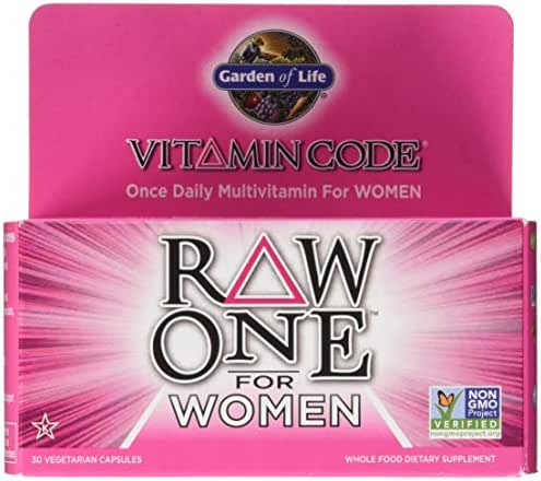 Garden of Life Multivitamin for Women - Vitamin Code Raw One Whole Food Vitamin Supplement with Probiotics, Vegetarian, 30 Capsules