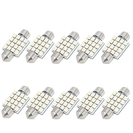 Amazon.com: eDealMax 10 piezas DE 36 mm DE 16 SMD 1210 LED Azul bóveda del Adorno de la luz interna DE3021: Automotive
