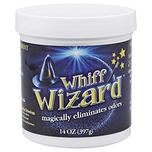 Whiff Wizard Natural Air Purifying Charcoal Odor Absorber Eliminator Neutralizing Gel - Powerful Infused Gel Magically Removes Pet Odors, Cigarette Smoke - Paint Wizard