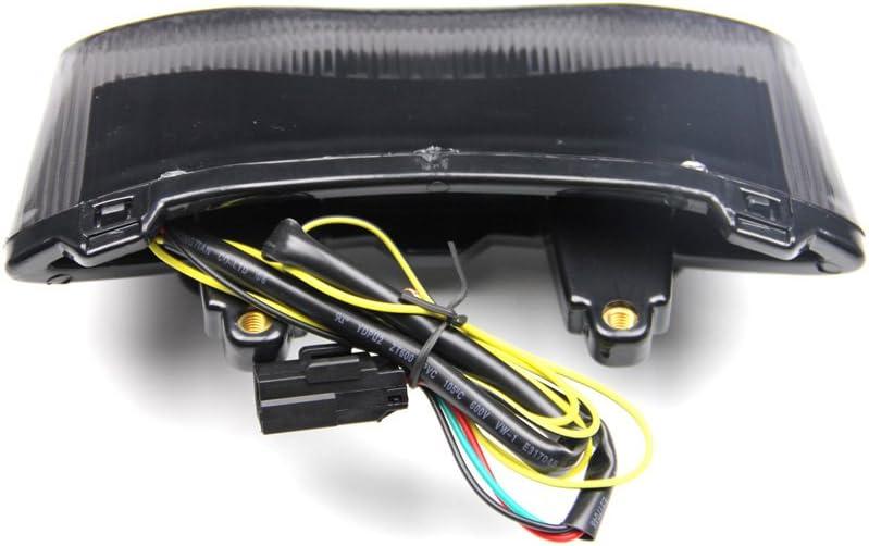 LED-Bremslicht mit integrierten Blinker f/ür 675 Speed Street Triple Get/önt