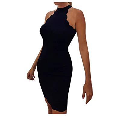 Vestido Mujer para Noche y Fiesta Casual Algodón Ropa Top Falda ...