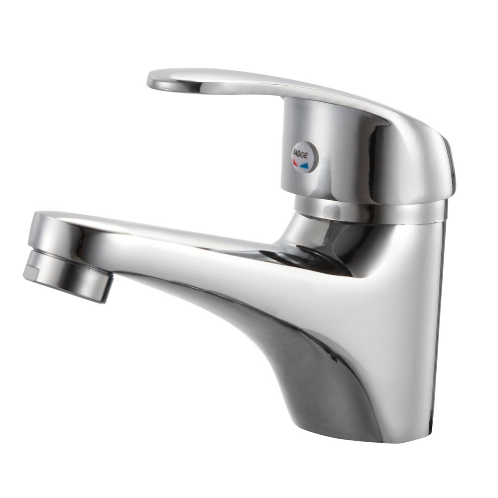 Bathroom Sink Faucets, Single Handle Mixer Hot And Cold Lever,Chrome Finish
