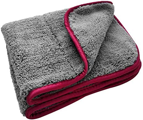 Details about  /1 Pc Car Care Cleaning Towel Microfiber Coral Velvet Hemming Grey Drying Cloth