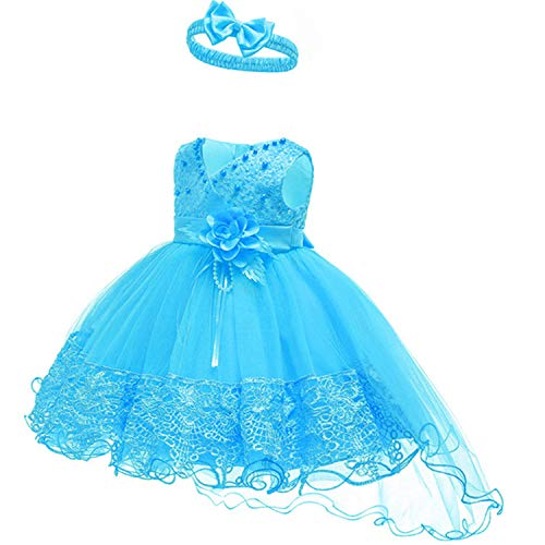 Infant Vestidos Baby Girl Clothes Baby Dress Butterfly Pearl Girl Wear Sleeveless Dress for Birthday Party Toddler Costume As picture3 3M]()