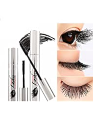 VOOA 4D Mascara Cream Waterproof Long Lasting Makeup Lash Eyelash Extension Warm Water Washable Eye Black Crazy-long Style Mascara