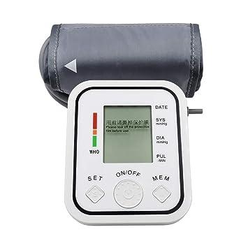 YHMMOO Tensiómetro de Brazo Automático Cómodas y Precisas con Gran Pantalla LCD para Uso Clínico y Doméstico,Memoria 2 x 99,White: Amazon.es: Deportes y ...