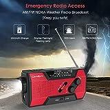 Emergency Weather Radio,Omew Portable Solar Hand