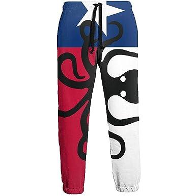 Octopus Texas Flag Pantalón de chándal Largo para Hombre Gym ...