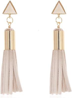 Long Leather Earrings Tribal Earrings Turquoise  Earrings Leather Jewelry Wire Wrapped