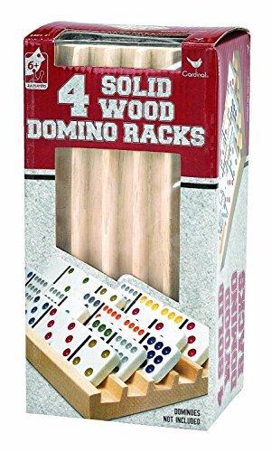 4 solid wood domino racks - 1