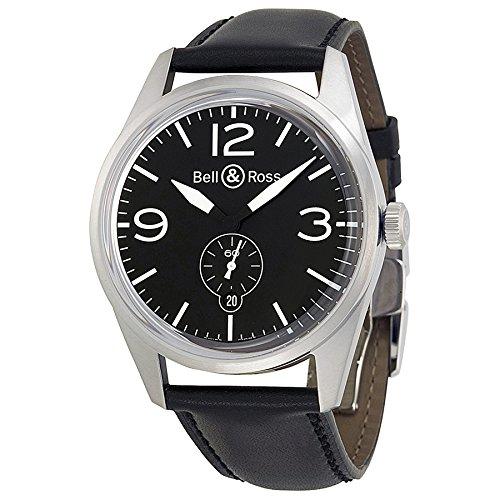 Bell-and-Ross-Vintage-Black-Dial-Black-Leather-Mens-Watch-BRV123-BL-ST-SCA