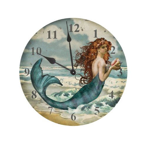 (Ohio Wholesale Water Collection Mermaid Clock)