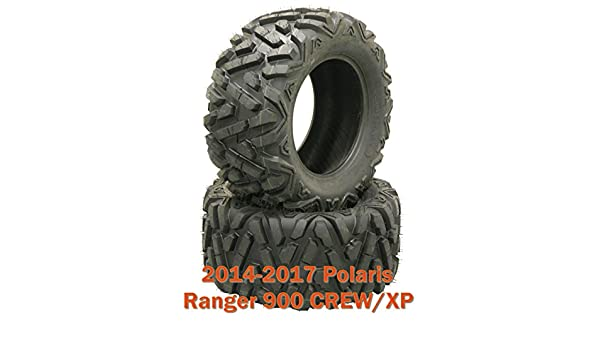 26x11R12 Radial ATV Rear Tire Set for 14-17 Polaris Ranger 900 CREW//XP 2