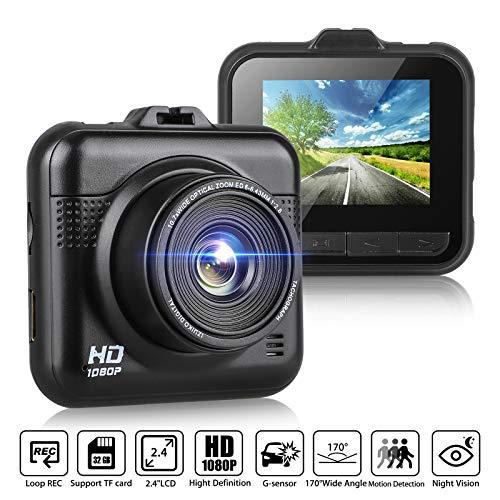 Car Dash Cam, EEEKit Dashboard Onboard Camera Camcorder Driving Video Recorder Full HD 1080P, Super Night Vision,G-Sensor,170° Wide Angle,WDR,Motion Detection,Parking Monitor,Loop Recording