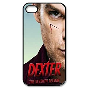 Apple iPhone 4 4S Black/White Case - Dexter iPhone 4 Snap On Hard Case - Vazza