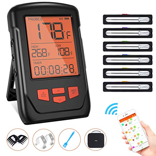 Wireless Meat Thermometer for Grilling
