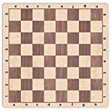 WE Games Walnut & Maple Wood Grain Mousepad Chessboard, 20 inches - made in USA