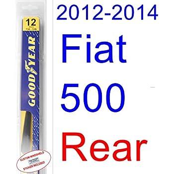 2012-2014 Fiat 500 Wiper Blade (Rear) (Goodyear Wiper Blades-Hybrid) (2013)