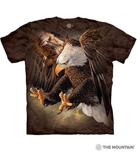 The Mountain Freedom Eagle Adult T-Shirt, Brown, Medium ()