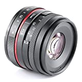50 F1.8 red circle portrait shooting high definition lens with muti-coating glass for Micro 4/3 Olympus EM10 EM5II or Panasonic GH5 GF9