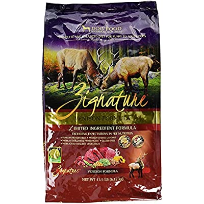 Zignature Venison Dog Food, 13.5 lb Bag. Grain Free, Gluten Free, Potato Free and Chicken Free!!