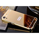 D-kandy Luxury Metal Bumper + Acrylic Mirror Back Cover Case For HTC DESIRE 820 820G+ (GOLD)