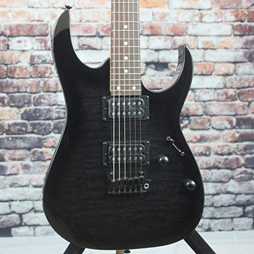 Ibanez GRG 6 String Solid-Body Electric Guitar, Right, Transparent Black Sunburst, Full (GRG120QHTKS)