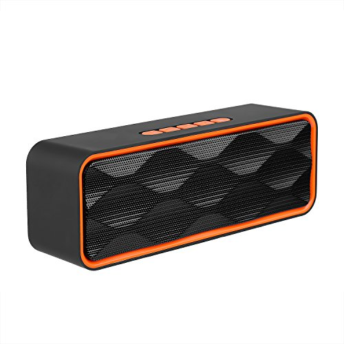 Wireless Bluetooth Speaker, Emopeak S1 Outdoor Portable Stereo Speaker with HD Audio and Enhanced Bass, Built-In Dual Driver Speakerphone, Bluetooth 4.2, Handsfree Calling, FM,TF Card Slot