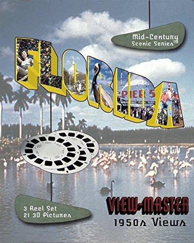 1950 Viewmaster Reel - ViewMaster- 1950s FLORIDA Views 3D - 3 Reel Set Souvenir